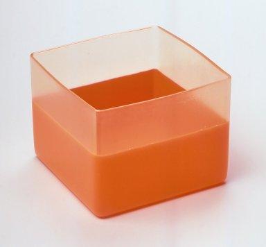 Karim Rashid (Canadian, born Egypt, 1960). Cube, Vessel, Manufactured 1999. Plastic, 3 1/2 x 4 1/2 x 4 1/2 in.  (8.9 x 11.4 x 11.4 cm). Brooklyn Museum, Gift of Karim Rashid, 2000.50.1. Creative Commons-BY