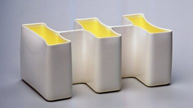 Karim Rashid (Canadian, born Egypt, 1960). Sectional, Vessel, Manufactured 1999. Plastic, 4 1/2 x 10 1/2 x 5 3/4 in.  (11.4 x 26.7 x 14.6 cm). Brooklyn Museum, Gift of Karim Rashid, 2000.50.4. Creative Commons-BY