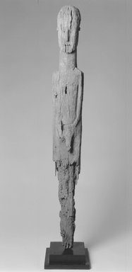 Konso. Waga Grave Marker, 19th century. Wood, metal, 52 1/2 x 6 1/2 x 3 1/4 in.  (133.4 x 16.5 x 8.3 cm). Brooklyn Museum, Gift of Serge and Jodie Becker-Patterson, 2000.94.4. Creative Commons-BY