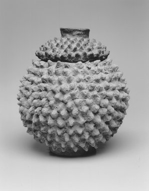 Lobi. Storage Jar with Lid, late 19th or early 20th century. Terracotta, Height: 9 1/4in. (23.5cm). Brooklyn Museum, Gift of Eugene and Harriet Becker, 2001.121.2a-b. Creative Commons-BY