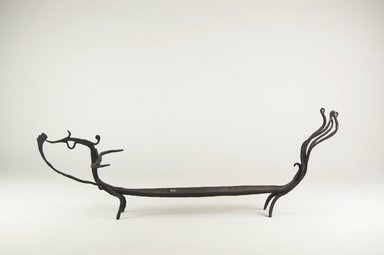 Lampung. Container for Tooth-blackening Paste  (Sihung), 19th century or earlier. Wrought Iron, 7 1/4 x 20 1/4 x 4 5/8 in. (18.4 x 51.4 x 11.7 cm). Brooklyn Museum, Bequest of Samuel Eilenberg , 2001.29.6. Creative Commons-BY