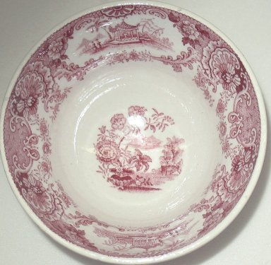 Ridgeway, Morley, Wear & Co. (active 1836-1842). Cup and Saucer, Japanese Flowers Pattern, ca. 1840. Glazed earthenware, cup: 2 1/4 x 4 in.  (5.7 x 10.2 cm); saucer height: 1 in. (2.5 cm); diameter: 5 3/4 in. (14.6 cm). Brooklyn Museum, Gift of Paul F. Walter, 2001.55.33a-b. Creative Commons-BY