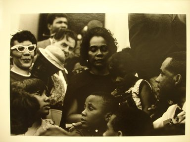 "LeRoy W. Henderson, Jr.. [Untitled] (Mrs. Martin Luther King, with Her Children and Others, at the Lincoln Memorial. ""Solidarity Day"" of the Poor People's Campaign), 1968. Gelatin silver photograph, 14 x 11 in.  (35.6 x 27.9 cm). Brooklyn Museum, Gift of Georgia O'Keeffe and Gift of Wallace B. Putnam from the Estate of Consuelo Kanaga, by exchange, 2001.62.2. © LeRoy W. Henderson, Jr."