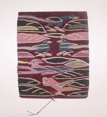 Pedro Ccarita Cusihuata (Quechua, Peruvian). Tapestry Sampler (Tapiz), 2002. Sheep wool, synthetic dyes, 10 x 8 in. (25.4 x 20.3 cm). Brooklyn Museum, Frank Sherman Benson Fund, 2002.62.14. Creative Commons-BY