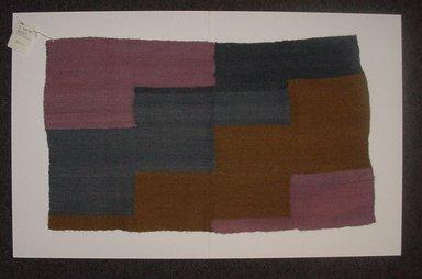 Maruja  Ayala  Ayca (Quechua, Peruvian). Discontinuous Warp or Scaffolding Sampler, 2002. Alpaca fleece, sheep wool(?), natural dyes, 15 1/2 x 26 1/2 in. (39.4 x 67.3 cm). Brooklyn Museum, Frank Sherman Benson Fund, 2002.62.8. Creative Commons-BY