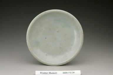 Mounted Dish, 19th century. Porcelain with white glaze, Height: 2 3/4 in. (7 cm). Brooklyn Museum, Gift of Dr. Alvin E. Friedman-Kien, 2004.112.34. Creative Commons-BY