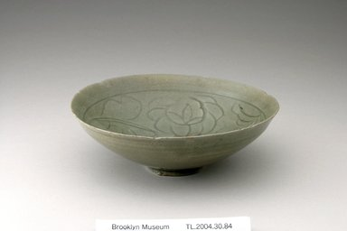 Bowl, 12th century. Stoneware with celadon glaze, Height: 2 3/16 in. (5.5 cm). Brooklyn Museum, The Peggy N. and Roger G. Gerry Collection, 2004.28.102. Creative Commons-BY