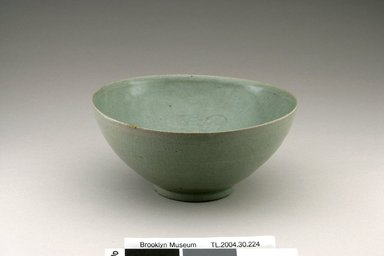 Bowl, first half of the 12th century. Stoneware with celadon glaze, Height: 3 1/4 in. (8.2 cm). Brooklyn Museum, The Peggy N. and Roger G. Gerry Collection, 2004.28.246. Creative Commons-BY