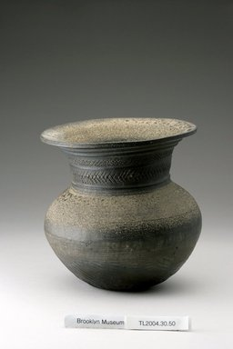 Jar, 5th century. Stoneware, 6 3/4 x 6 5/16 in. (17.1 x 16 cm). Brooklyn Museum, The Peggy N. and Roger G. Gerry Collection, 2004.28.46. Creative Commons-BY