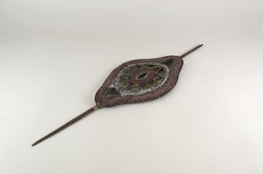Abelam. Dance Wand, 20th century. Wood, vegetable fiber (probably rattan), pigment, 18 3/4 x 5 3/4 x 1/2 in. (47.6 x 14.6 x 1.3 cm). Brooklyn Museum, Gift of Dr. K. David G. Edwards from the David and Margery Edwards Collection, 2004.74.5. Creative Commons-BY