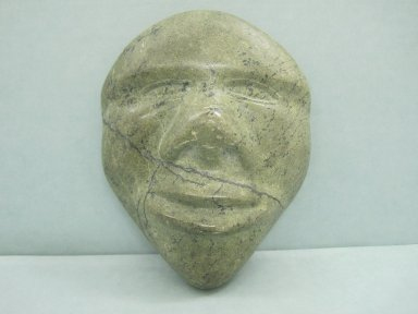 Inuit. Miniature Head in Relief, 1950-1980. Greenstone, 6 x 4 1/2 x 1 3/4 in. (15.2 x 11.4 x 4.4 cm). Brooklyn Museum, Hilda and Al Schein Collection, 2004.79.18. Creative Commons-BY