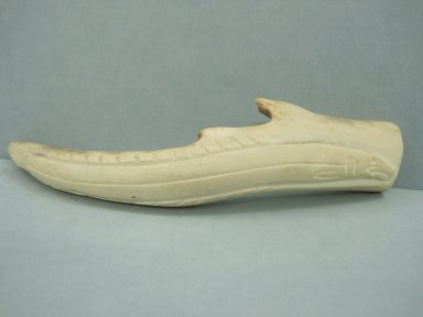 Bobby Qajuurtaq Tarkirk (Canadian, Inuit, 1934-2000). Fish Form on an Antler, 1950-1980. Antler, 3/4 x 6 3/4 x 1 5/8 in. (1.9 x 17.1 x 4.1 cm). Brooklyn Museum, Hilda and Al Schein Collection, 2004.79.51. Creative Commons-BY