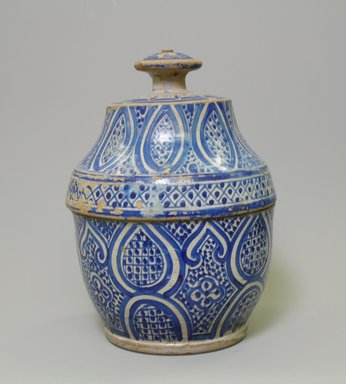 Butter Jar, 19th century. Earthenware, Approx H.: 12 in. (30.5 cm). Brooklyn Museum, Gift of Dr. Charles S. Grippi in memory of Professor Virgil H. Bird