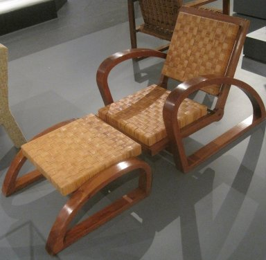 Francois Jourdain (French, 1876-1958). Armchair, ca. 1928. Mahogany, plant fiber, 30 x 37 x 27 1/2 in. (76.2 x 94 x 69.9 cm). Brooklyn Museum, Gift of Frederick A. McConkey, 2006.80.1. Creative Commons-BY