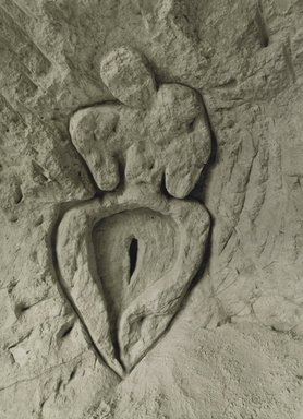 Ana Mendieta (American, born Cuba, 1948-1985). Untitled (Guanaroca [First Woman]), 1981/1994. Gelatin silver photograph, 53 1/2 x 39 1/2 in. (135.9 x 100.3 cm). Brooklyn Museum, Gift of Stephanie Ingrassia, 2007.15. © The Estate of Ana Mendieta