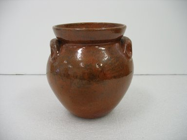 Jugtown Pottery (founded 1921). Vase, after 1921. Glazed earthenware, 6 1/2 x 6 in. (16.5 x 15.2 cm). Brooklyn Museum, Gift of Paul F. Walter, 2007.62.1. Creative Commons-BY