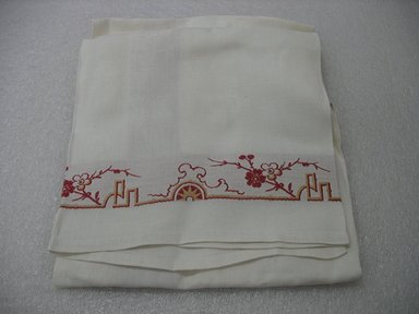 Napkin, ca. 1890. Linen, 27 1/2 x 33 in. (69.9 x 83.8 cm). Brooklyn Museum, Gift of Paul F. Walter, 2007.62.26. Creative Commons-BY