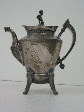 Reed & Barton (American, 1840-present). Coffee Pot, ca. 1885. Silverplate, 10 1/4 x 9 1/4 x 5 3/4 in. (26.0 x 23.5 x 14.6 cm). Brooklyn Museum, Gift of Paul F. Walter, 2007.62.4. Creative Commons-BY