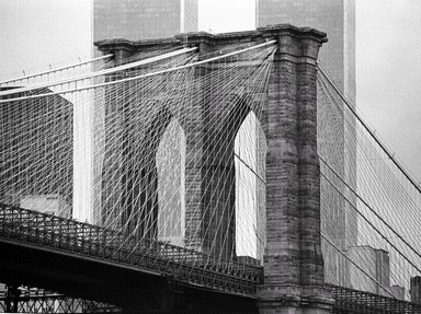 Richard Blair (American, born 1948). Brooklyn Bridge, 1981. Gelatin silver photograph, 16 x 20 in. (40.6 x 50.8 cm). Brooklyn Museum, Gift of the artist, 2008.60. © Richard Blair