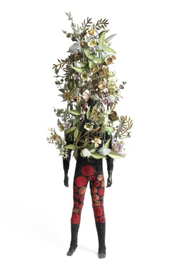 Nick Cave (American, born 1959). Soundsuit, 2008. Mixed media, Exhibited ACTUAL dims: 112 x 43 x 35 in. (284.5 x 109.2 x 88.9 cm). Brooklyn Museum, Mary Smith Dorward Fund, 2009.44a-b. © Nick Cave
