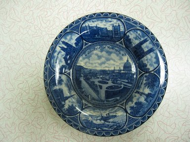 The Rowland & Marsellus Company (1893-1938). Souvenir of Montreal Plate, early 20th century. Glazed earthenware, 1 1/8 x 11 in. (2.9 x 27.9 cm). Brooklyn Museum, Gift of Pat Nichols in honor of Joanne Leshen, 2009.77.2. Creative Commons-BY