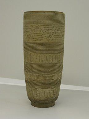 Edwin Scheier (American, 1910-2008). Vase, ca. 1960. Stoneware, 8 3/4 x 3 7/8. Brooklyn Museum, Gift in memory of Professor Elliot and Lillian Zupnick by their children, Judith Ellen and Henry David Zupnick, 2009.80.3. Creative Commons-BY