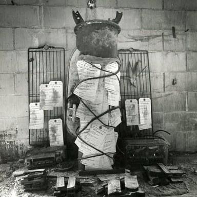 Arthur Tress (American, born 1940). Altar Fetish, RRYMCA, NY, 1980. Gelatin silver photograph, 8 x 10 in. (20.3 x 25.4 cm). Brooklyn Museum, Gift of William and Marilyn Braunstein, 2009.86.1. ©Arthur Tress