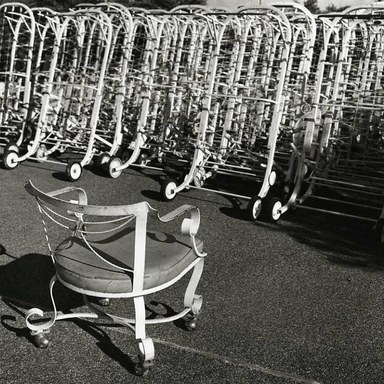 Arthur Tress (American, born 1940). Chair and Chaise Lounge, NY, 1981. Gelatin silver photograph, 11 x 14 in. (27.9 x 35.6 cm). Brooklyn Museum, Gift of William and Marilyn Braunstein, 2009.86.11. © artist or artist's estate