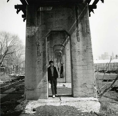 Arthur Tress (American, born 1940). Three Boys Under an Aqueduct, Staten Island, NY, 1970. Gelatin silver photograph, 11 x 14 in. (27.9 x 35.6 cm). Brooklyn Museum, Gift of William and Marilyn Braunstein, 2009.86.17. © artist or artist's estate