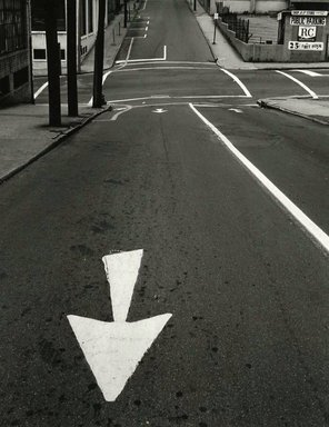 Arthur Tress (American, born 1940). Street Arrow, Queens, 1968. Gelatin silver photograph, 11 x 14 in. (27.9 x 35.6 cm). Brooklyn Museum, Gift of William and Marilyn Braunstein, 2009.86.3. © artist or artist's estate