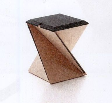"Yves Behar (Swiss, born 1967). ""Kada"" Stool, 2006. Wood, textile, plastic, 13 3/4 x 13 3/4 x 17 3/4 in. (34.9 x 34.9 x 45.1 cm). Brooklyn Museum, Gift of Yves Behar/fuseproject, 2010.15.1a-b. Creative Commons-BY"