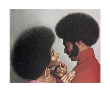 Hank Willis Thomas (American, born 1976). A Natural Explosion!  Afro Sheen® Blowout Creme Relaxer 1973/2007, 1973/2007. Digital print, 29 1/2 x 35 1/4 in. (74.9 x 89.5 cm). Brooklyn Museum, Mary Smith Dorward Fund and gift of Robert Smith, by exchange, 2010.18.6. © Hank Willis Thomas