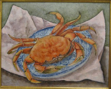 George Biddle (American, 1885-1973). Giant Crab, 1941. Oil on Masonite, 16 x 20 in. (40.6 x 50.8 cm). Brooklyn Museum, Gift of Constance L. and Henry Christensen III, 2010.3.3. © Estate of George Biddle