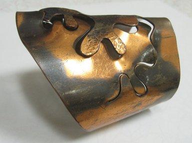 Winifred Mason (American, 1915-1993). Cuff Bracelet, ca. 1945. Copper, 2 1/4 x 2 7/8 x 3 1/2 in. (5.7 x 7.3 x 8.9 cm). Brooklyn Museum, Designated Purchase Fund, 2010.71. Creative Commons-BY