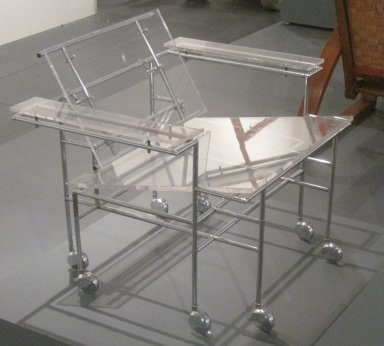 Paul Rudolph (American, 1918-1997). Armchair, Designed 1968. Chrome-plated steel, other metals, Lucite