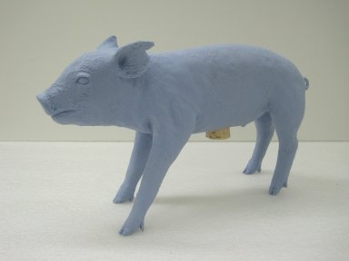 Harry Allen (American, born 1964). Bank in the Form of a Pig, 2004. Polyester resin, cork, 10 1/8 x 18 1/4 x 5 in. (25.7 x 46.4 x 12.7 cm). Brooklyn Museum, Gift of the artist, 2010.73. Creative Commons-BY