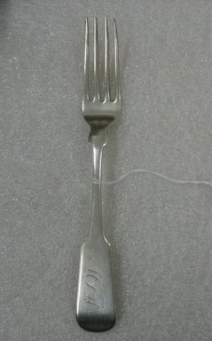 Fork, 19th century. Silver, 8 x 1 x 3/4 in. (20.3 x 2.5 x 1.9 cm). Brooklyn Museum, Gift of William Lee Younger in memory of Joseph A. Henehan, 2010.77.20. Creative Commons-BY