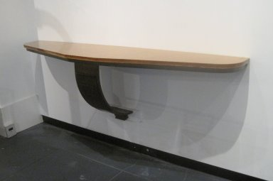 Edgar William Brandt (French, 1880-1960). Console Table, ca. 1930. Wrought iron, glass, copper patination, Other (base): 19 x 69 1/2 x 15 in. (48.3 x 176.5 x 38.1 cm). Brooklyn Museum, Gift of Lori Price, 2010.87. Creative Commons-BY