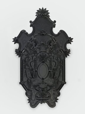 Fred Wilson (American, born 1954). Iago's Mirror, 2009. Murano glass, 80 x 48 3/4 x 10 1/2 in., 137 lb. (203.2 x 123.8 x 26.7 cm, 62.1kg). Brooklyn Museum, Purchased with funds given by John and Barbara Vogelstein, purchase gift of Stephanie and Tim Ingrassia, Arline and Norman Feinberg, Beverly and Steven A. Newborn, Sheila and Richard J. Schwartz, Leslie L. and Alan Beller, Barbara and Richard W. Moore, and Carla Shen