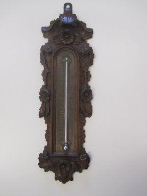W. Norton (born ca.1810). Thermometer, ca. 1855. Walnut, brass, glass, mercury, 18 1/2 x 5 1/4 x 1 5/8 in. (47 x 13.3 x 4.1 cm). Brooklyn Museum, Gift of Paul F. Walter, by exchange, 2011.39. Creative Commons-BY