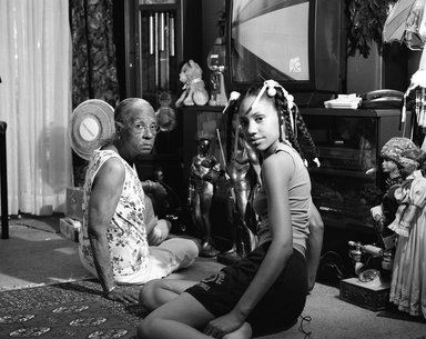 LaToya Ruby Frazier (American, born 1982). Grandma Ruby and Me, 2005. Gelatin silver photograph, mount: 24 x 28 in. (61 x 71.1 cm). Brooklyn Museum, Emily Winthrop Miles Fund, 2011.63.1. ©LaToya Ruby Frazier