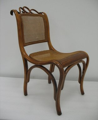 Gebrüder Thonet. Side Chair, Model No. 46, ca. 1880. Copper beech and modern cane, 33 1/4 x 17 3/4 x 22 in. (84.5 x 45.1 x 55.9 cm). Brooklyn Museum, Gift of Penelope Hunter-Stiebel and Gerald G. Stiebel, 2011.83. Creative Commons-BY