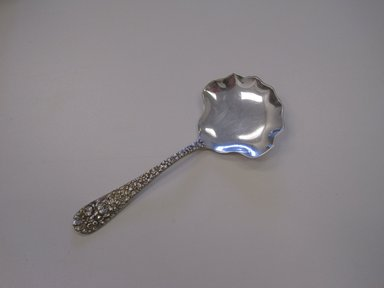 Stieff Company. Berry Spoon, Rose Pattern, designed 1892. Silver, 5 5/16 x 2 1/8 x 1/2 in. (13.5 x 5.4 x 1.3 cm). Brooklyn Museum, Gift of Pamela and Arnold Lehman, 2012.13.1. Creative Commons-BY
