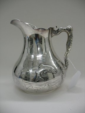 Pairpoint Manufacturing Company (1880-1929). Pitcher, 1875-1885. Silverplate, 8 1/2 x 7 3/4 x 7 in. (21.6 x 19.7 x 17.8 cm). Brooklyn Museum, Gift of Sarah Eigen, 2012.60.4. Creative Commons-BY