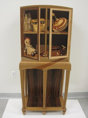 Silas Kopf (American, born 1949). Toy Cabinet, 2010. Pucte, bocote, and marquetry  , 58 5/8 x 26 x 14 3/8 in. (148.9 x 66 x 36.5 cm). Brooklyn Museum, Anonymous gift, 2013.18. Creative Commons-BY