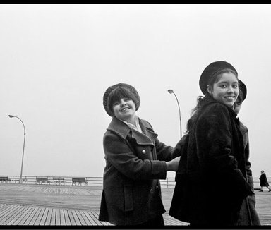Ed Gallucci. Coney Island Girls, 1969, printed 2013. Inkjet print, image: 8 1/2 x 12 3/4 in. (21.6 x 32.4 cm). Brooklyn Museum, Gift of the artist, 2013.80.1. ©Ed Gallucci