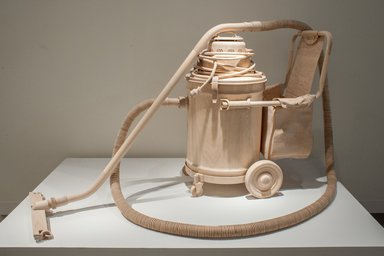 Roxy Paine (American, born 1966). Labor Saving Device, 2013. Maple wood and stainless steel, 38 x 60 x 47 in. (96.5 x 152.4 x 119.4 cm). Brooklyn Museum, Alfred T. White Fund, 2014.10. © Roxy Paine