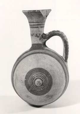 Cypriot. Barrel-Jug, 850-700 B.C.E. Terracotta, painted, 6 1/8 in. (15.5 cm). Brooklyn Museum, Bequest of William H. Herriman, 21.3. Creative Commons-BY