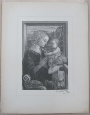 Timothy Cole (American, 1852-1931). The Virgin Adoring Infant, 1889. Wood engraving, Sheet: 12 1/8 x 9 1/2 in. (30.8 x 24.1 cm). Brooklyn Museum, Museum Collection Fund, 21.504