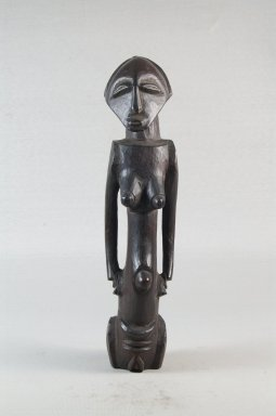 Possibly Luba. Figure of a Standing Female, late 19th or early 20th century. Wood, 9 5/8 x 5/16 in. (24.4 x 0.8 cm). Brooklyn Museum, Museum Expedition 1922, Robert B. Woodward Memorial Fund